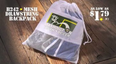 B242 Mesh Drawstring Backpack