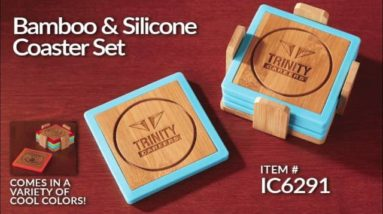 Bamboo & Silicone Coaster Sets!