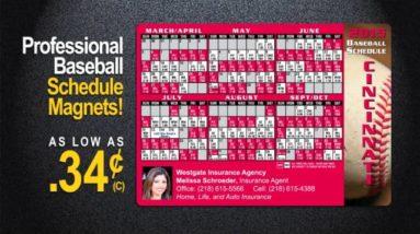 Baseball Schedule Magnets