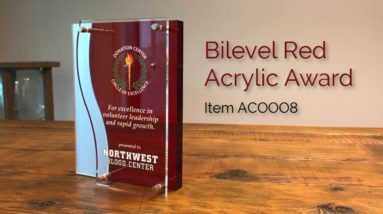 Bilevel Red Acrylic Award!
