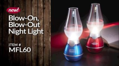 Blow-On, Blow-Out Night Lights!
