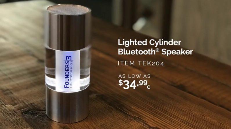 TEK204 Lighted Cylinder Bluetooth Speaker!