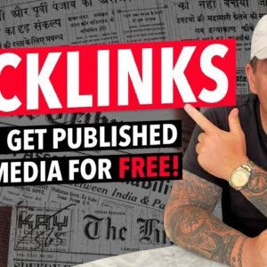 Backlinks: How to Get Published in the Media without a PR Team