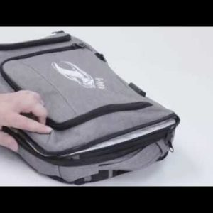 #3495 Heathered RFID Backpack And Briefcase
